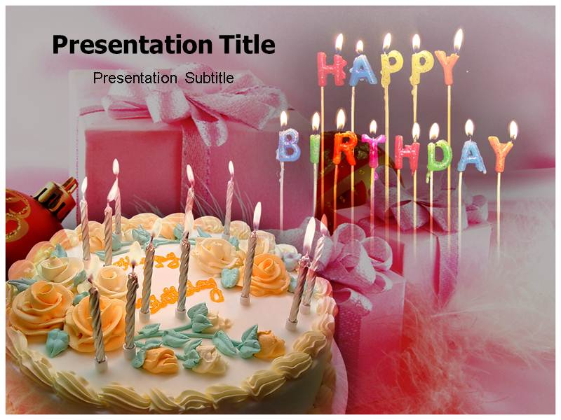 Happy Birthday E Cards Powerpoint Tmplates Birthday Powerpoint