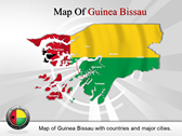 Map of Guinea Bissau  powerPoint template