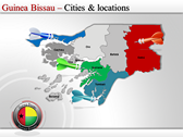 Map of Guinea Bissau  powerpoint template download