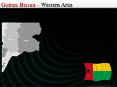 Map of Guinea Bissau  powerpoint download