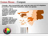 Map of Guinea Bissau  power Point templates