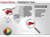 Map of Guinea Bissau  powerPoint backgrounds