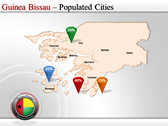 Map of Guinea Bissau  power Point Backgrounds