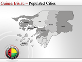 Map of Guinea Bissau  design for power point