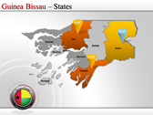 Map of Guinea Bissau  power point download