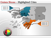 Map of Guinea Bissau  fullpowerpoint download