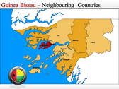 Map of Guinea Bissau  powerPoint themes