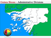 Map of Guinea Bissau  power Point theme