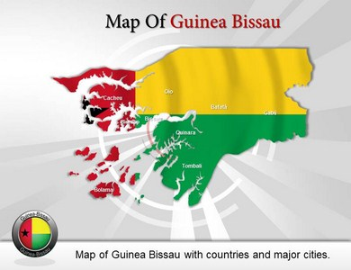 Map of Guinea Bissau  PowerPoint Templates