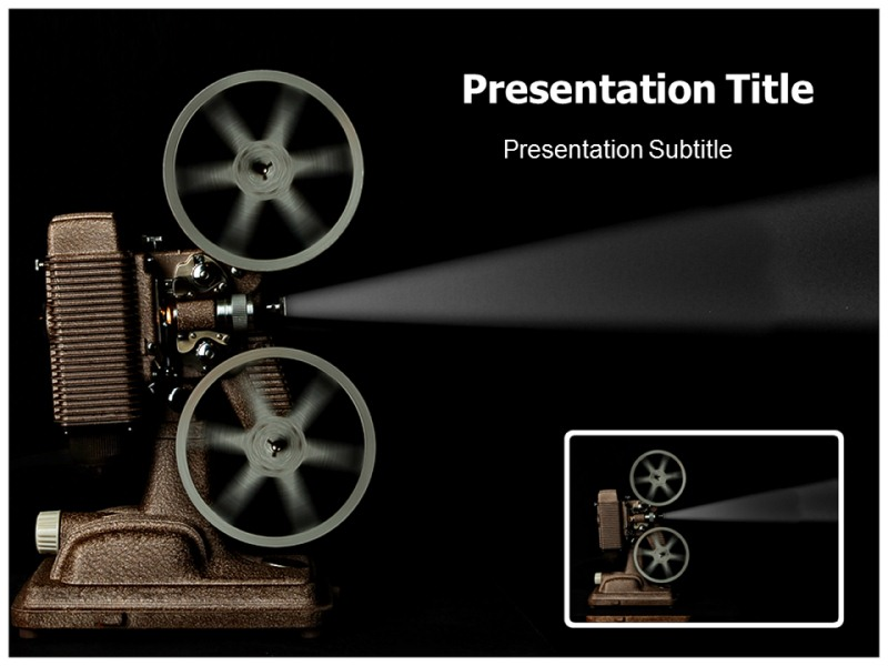 movie projector powerpoint templates powerpoint presentation on