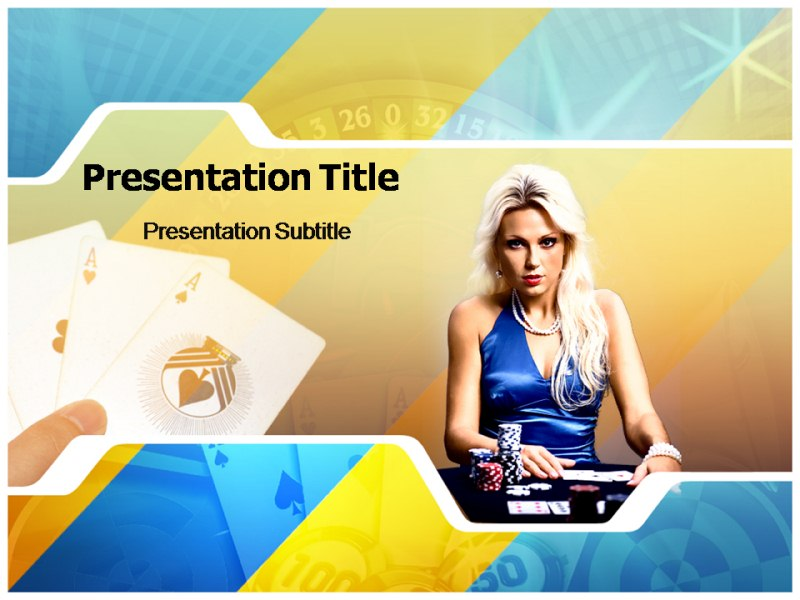 Poker Girl Powerpoint Templates