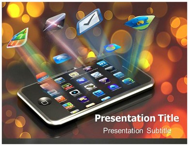 Mobile apps powerpoint templates powerpoint presentation on mobile mobile apps powerpoint templates toneelgroepblik Gallery