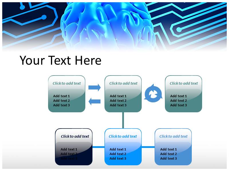 Artificial Brain Powerpoint Templates
