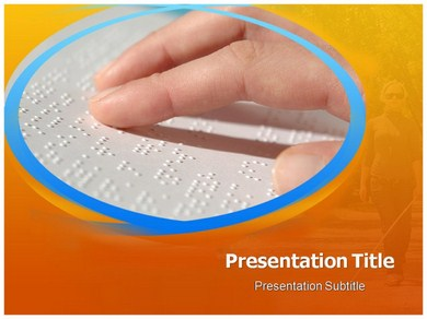 Braille Book Powerpoint Templates