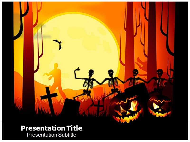 Halloween Facts Powerpoint Templates