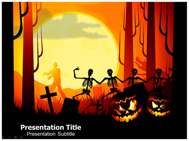 Halloween Facts Powerpoint Template Powerpoint Backgrounds