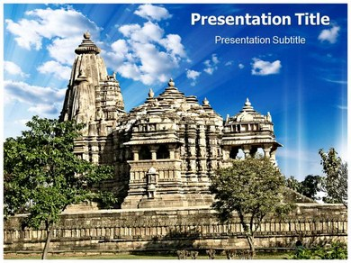 Ancient Temple History Powerpoint Templates