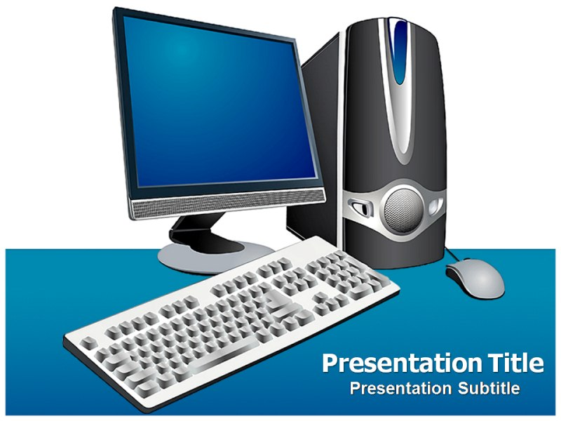 Computer Parts Powerpoint Template Ppt Template On Computer