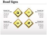 Traffic Signals Chart power Point Backgrounds