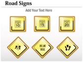 Traffic Signals Chart themes for power point