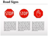 Traffic Signals Chart design for power point