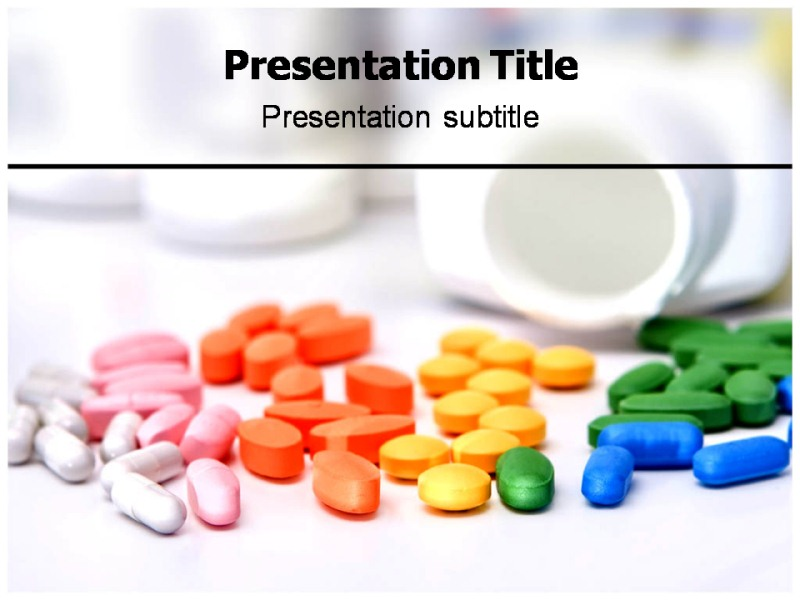 colorful medicine pills ppt templates | colorful medicine, Powerpoint templates