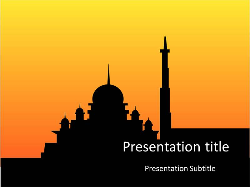 Sunset Mosque PowerPoint Templates | Sunset Mosque PPT ...