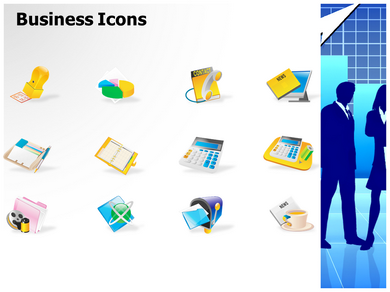 Business Silhouettes Pictures Powerpoint Templates