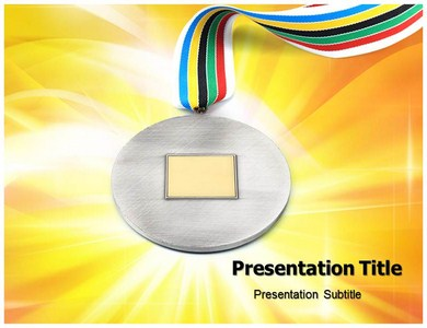 Silver Medal Powerpoint Templates