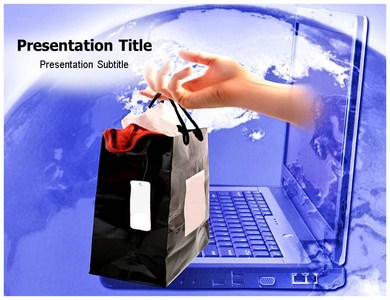 e commerce ppt templates | e commerce market powerpoint template, Presentation templates