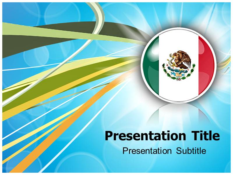 flag icon mexico powerpoint template editable templates on mexico