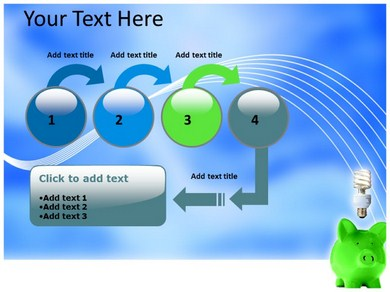 Save fuel with electric car-powerpoint diagram.