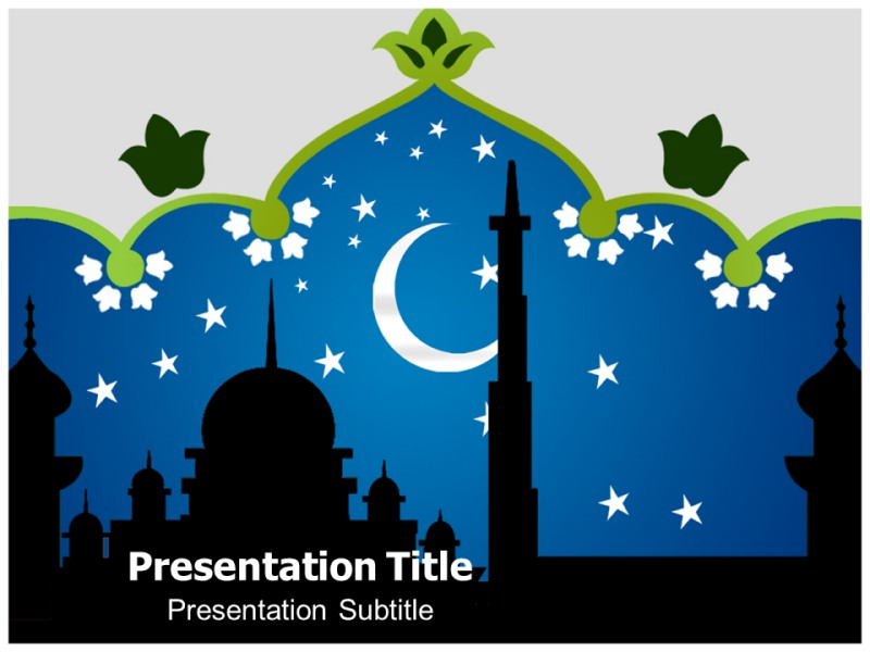 islam holiday powerpoint templates | powerpoint presentation on, Modern powerpoint