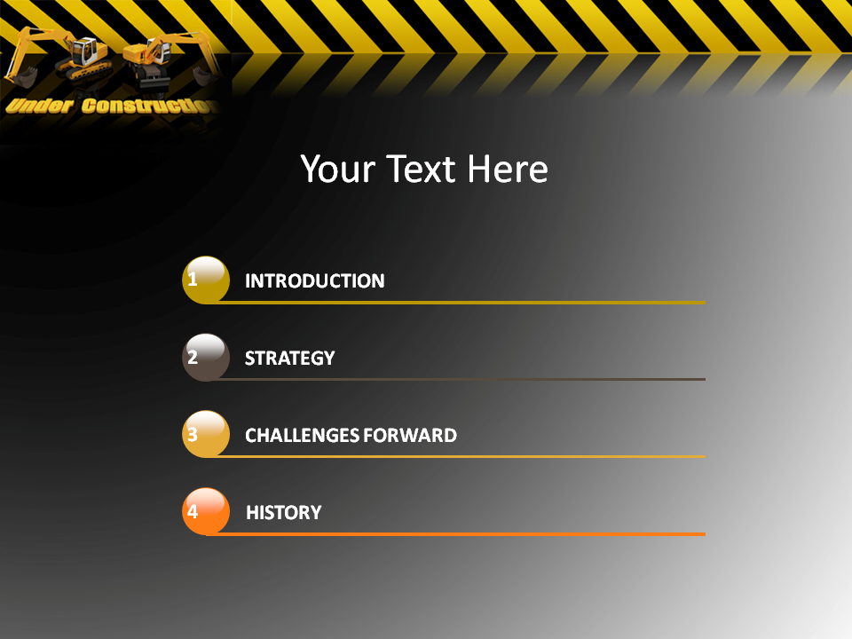 under construction powerpoint templates under construction ppt
