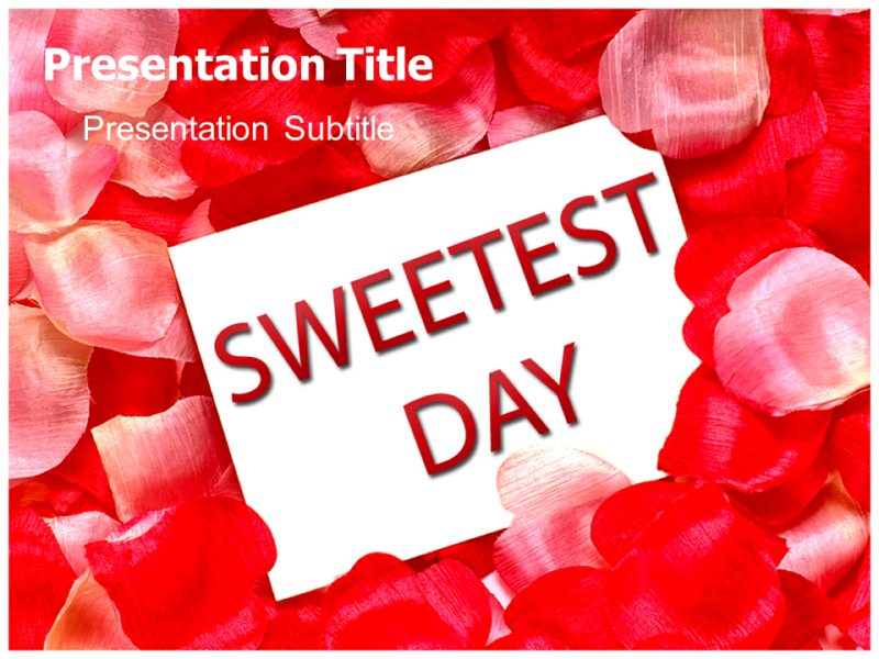 Sweetest dayPowerpoint Template