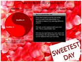 Sweetest day powerPoint background