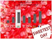 Sweetest day power point background templates