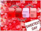 Sweetest day power point background graphics