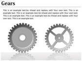 Gears Chart powerpoint backgrounds