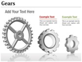 Gears Chart themes for power point