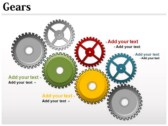 Gears Chart design for power point