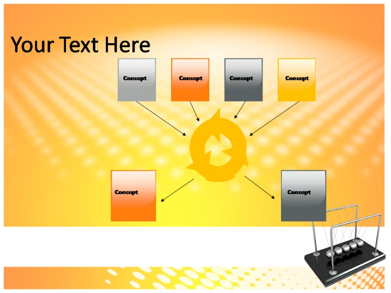Newton Cradle Powerpoint Templates