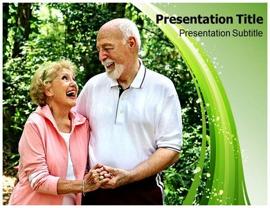 Senior Couple Powerpoint Templates