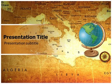 Globe ppt powerpoint templates powerpoint template on geographical globe powerpoint templates toneelgroepblik Images