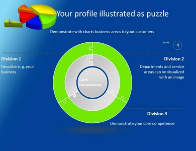 Pie Chart 3 Powerpoint Templates