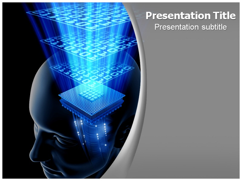 Computer Brain Powerpoint Template Brain Computer Powerpoint