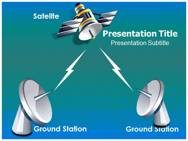 Satellite Communication Tech Powerpoint Templates