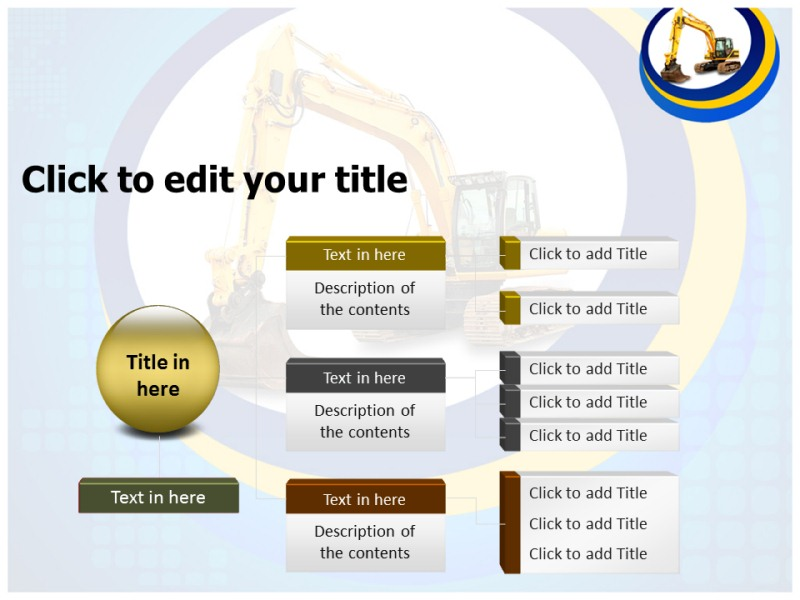 JCB Crane Toy Powerpoint Templates