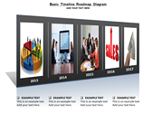 Basic Timeline Roadmap Diagram powerPoint template