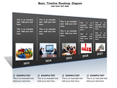 Basic Timeline Roadmap Diagram powerpoint template download